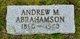 Profile photo:  Andrew M. Abrahamson