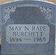 May Nellie <I>Rape</I> Burchett