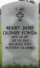 Profile photo:  Mary Jane <I>Quinby</I> Fonda