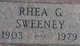 Rhea Gernelle <I>Percifield</I> Sweeney