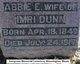 Profile photo:  Abbie E. <I>Belknap</I> Dunn