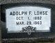 Profile photo:  Adolph F. Lohse