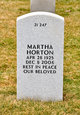 Profile photo:  Martha Horton