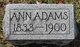 Profile photo:  Anna Belle <I>Keeley</I> Adams