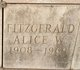 Profile photo:  Alice W Fitzgerald