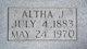 Altha J. <I>Nance</I> Slaughter