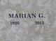 Profile photo:  Marian G Pullen