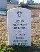 Profile photo: CPL John Norman Dennis