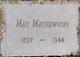 May <I>Brothers</I> Mathewson