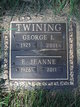 Profile photo:  George I Twining, Jr