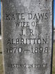 Kate <I>Daws</I> Albritton