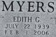 "Edith Geraldine ""Gerry"" Myers"