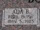 Profile photo:  Ada B. Bodell