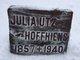 Julia <I>Utz</I> Hoffhiens