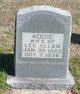 "Nancy Adeline ""Addie"" <I>Johnson</I> Allen"