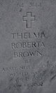 Thelma Roberta <I>Glover</I> Brown
