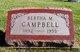Profile photo:  Bertha M. Campbell