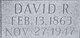 David R Crites