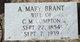 "Mary Ann ""Sarah"" <I>Brant</I> Compton"