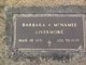 Barbara A <I>McNamee</I> Livermore