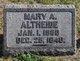 Mary A Altheide