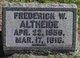 Frederick W Altheide