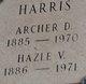 Profile photo:  Archer D Harris