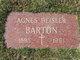 Profile photo:  Agnes <I>Heisler</I> Barton