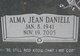 Profile photo:  Alma Jean <I>Daniell</I> Key