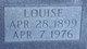 Louise <I>Summers</I> Hartle