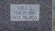 Ara Eveline <I>Crites</I> Welker