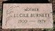 Profile photo:  Alice Lucile <I>Longbottom</I> Burnett