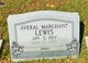 "Profile photo:  Averal ""Bobbie"" <I>Marchant</I> Lewis"