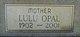 "Lulu Opal ""Opal"" <I>Gibson</I> Courter"