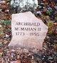 Profile photo:  Archibald McMahan, II