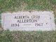Profile photo:  Alberta <I>Gish</I> Allerton