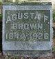 Agusta F. <I>Pardee</I> Brown