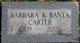 Barbara Katherine <I>Banta</I> Carter