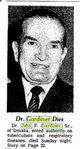 Profile photo: Dr John F Gardiner