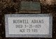 Profile photo:  Roswell Adams