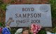 Profile photo:  Boyd Sampson