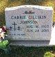 Mrs Carrie <I>Gillikin</I> Johnson