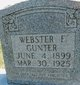 Webster Frank Gunter