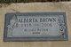 """Alberta """"Bama"""" Brown"""