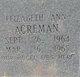 Elizabeth Ann Acreman