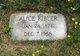 Profile photo:  Alice Kibler