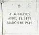 Profile photo:  A. W. Coates