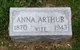 Profile photo:  Anna <I>Jennings</I> Arthur