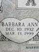 Profile photo:  Barbara Ann Arlen