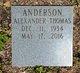 Profile photo:  Alexander Thomas Anderson